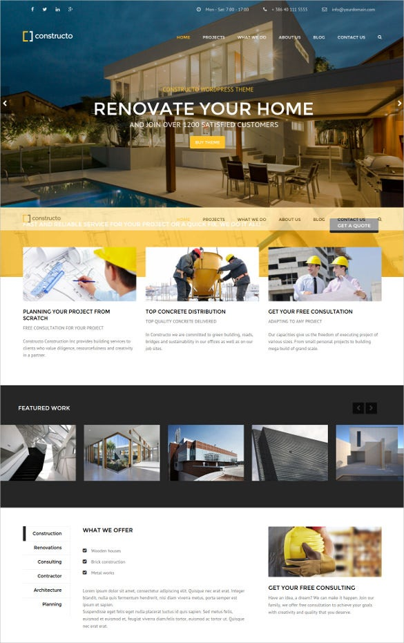 wordpress construction business website theme
