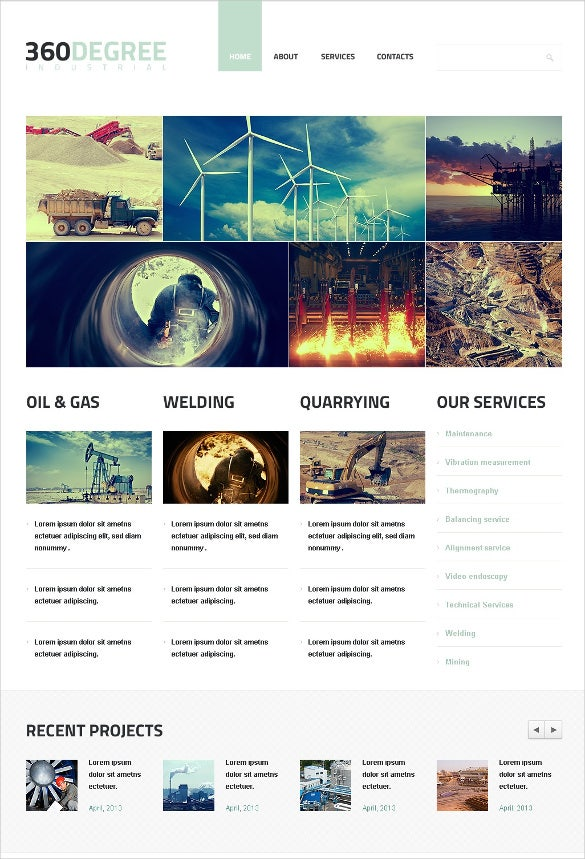 welding engineer responsive website template