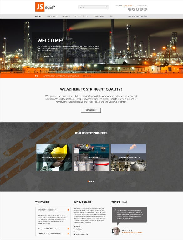 beautyful civil engineering website template