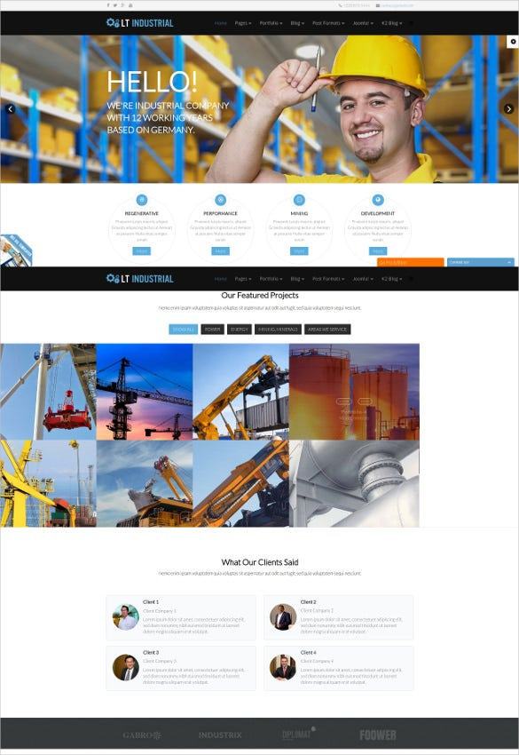 engineering industrial joomla website template