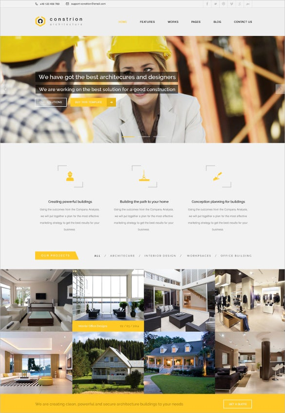 architecture engineering html website template