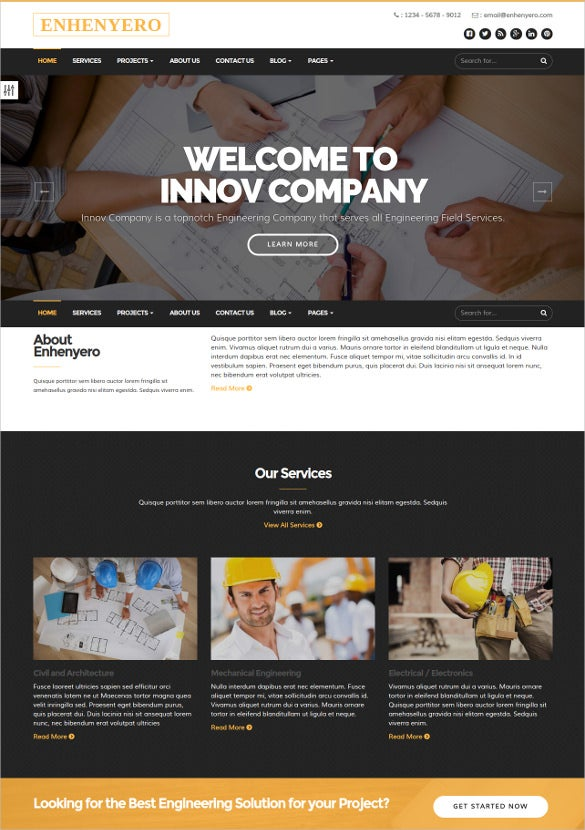 engineering industrial business theme