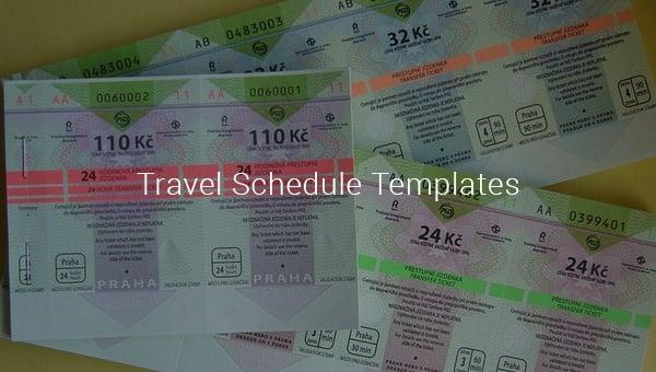 travel schedule template1
