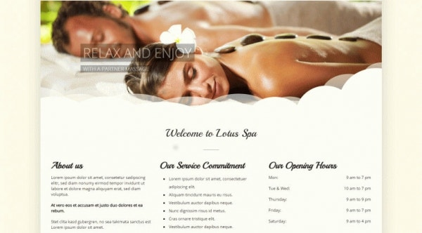 lotus massage therapist wordpress theme