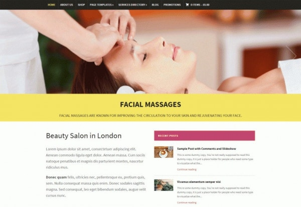 modena massage therapist wordpress template