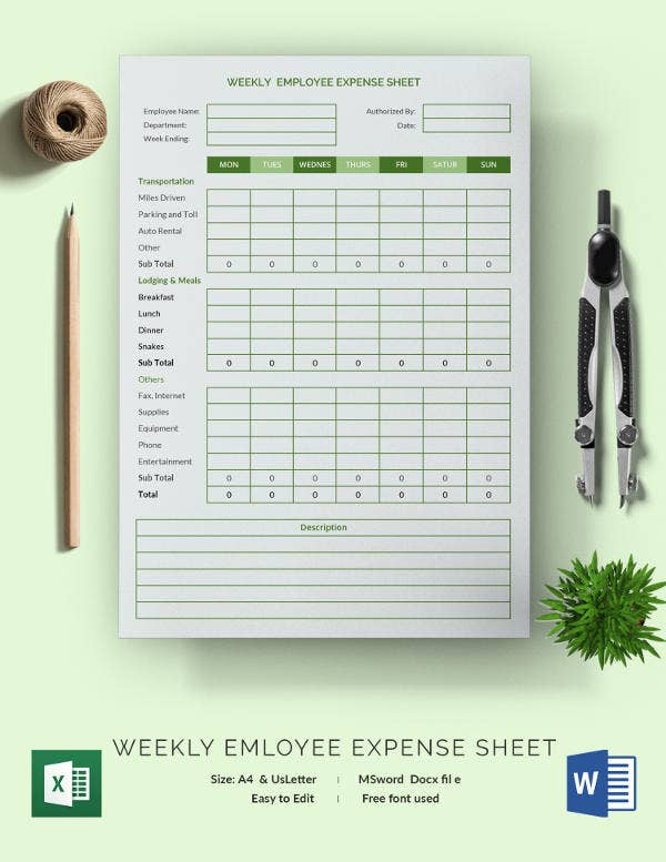 Expense Sheet Template - 15+ Free Word, Excel, PDF Documents ...