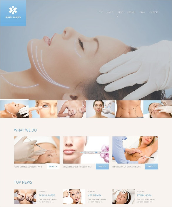 plastic surgery responsive wordpress theme1