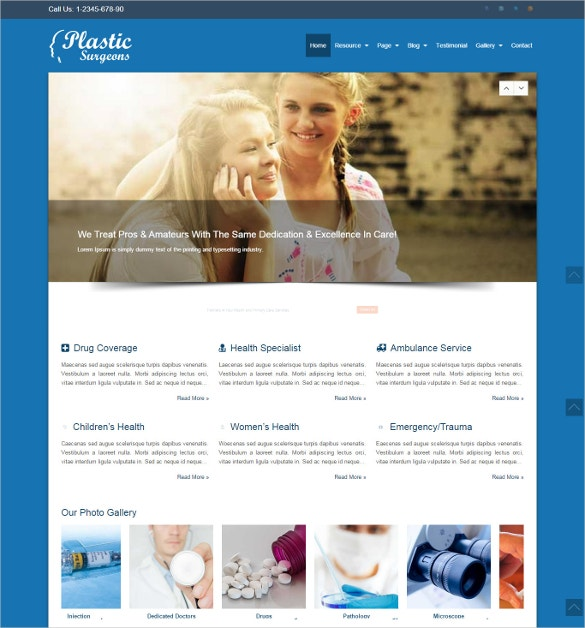 plastic surgeons wordpress theme1