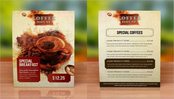 featured image coffee menu template