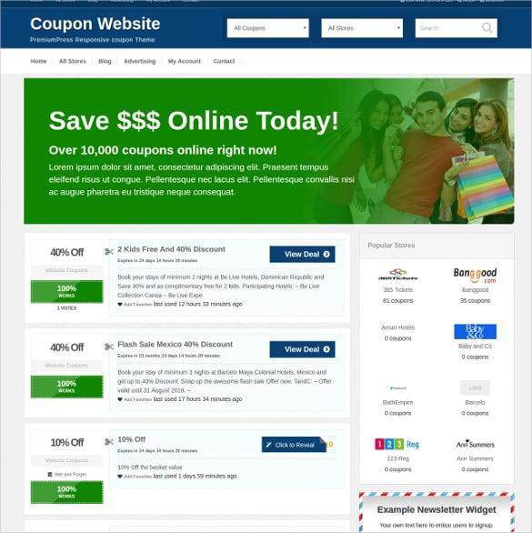 responsive coupon wordpress theme1