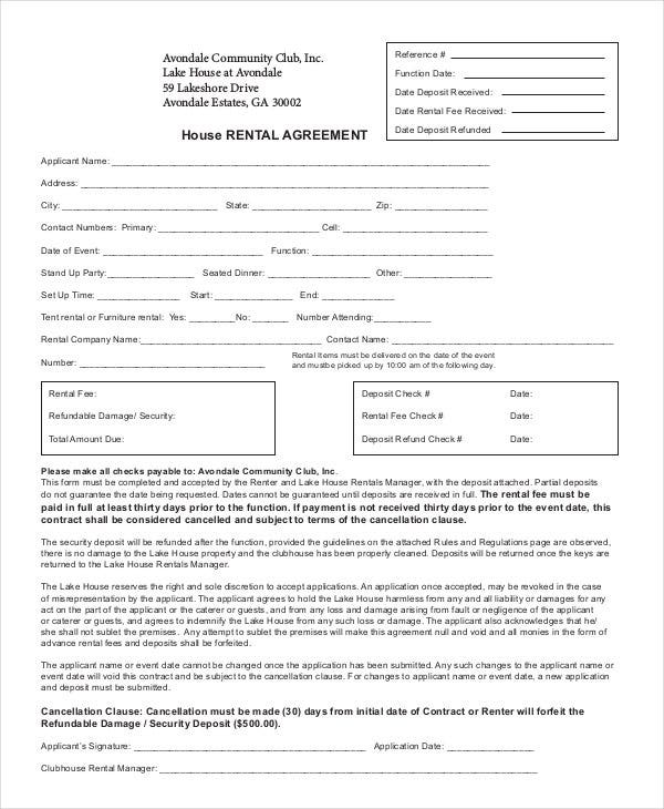 house rental agreement1