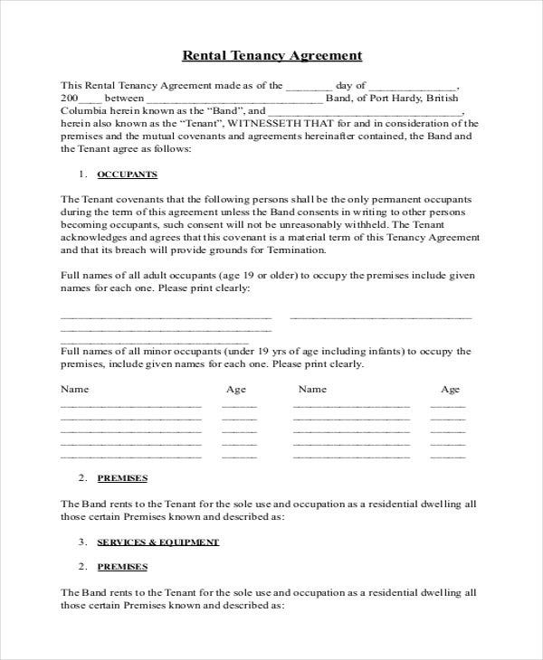 rental tenancy agreement download
