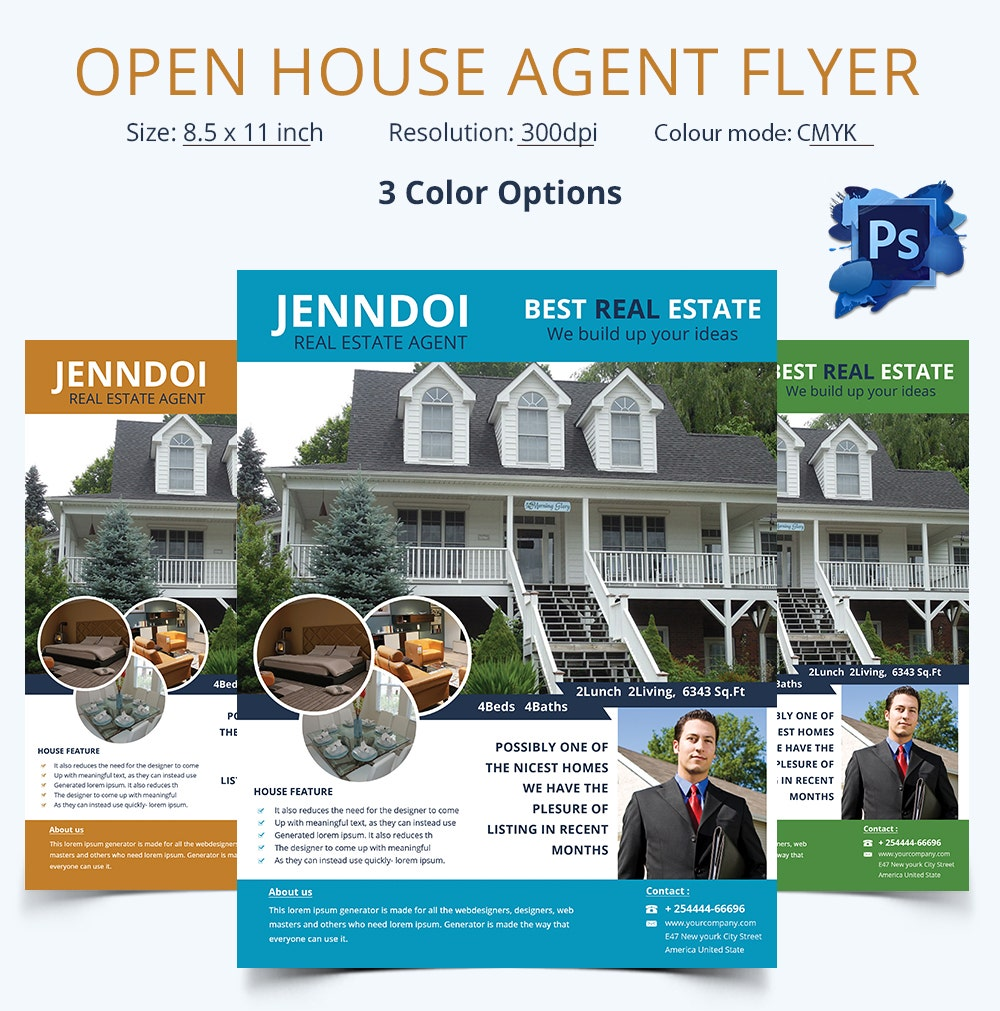 Open House Agent Flyer Template