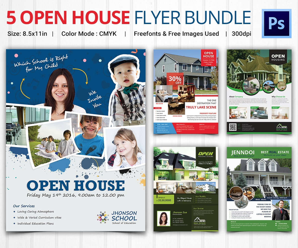 Open House Flyer Templates Bundle