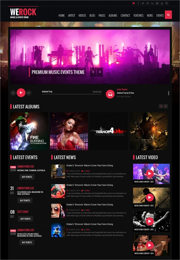 multipurpose music singers wordpress theme