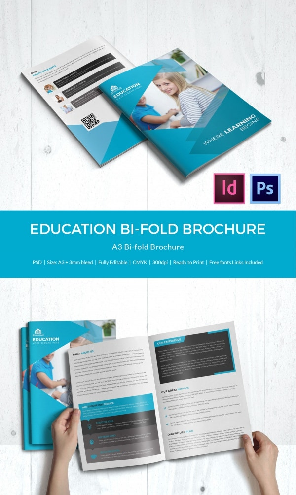 educational brochure templates - education brochure template 43 free psd eps indesign
