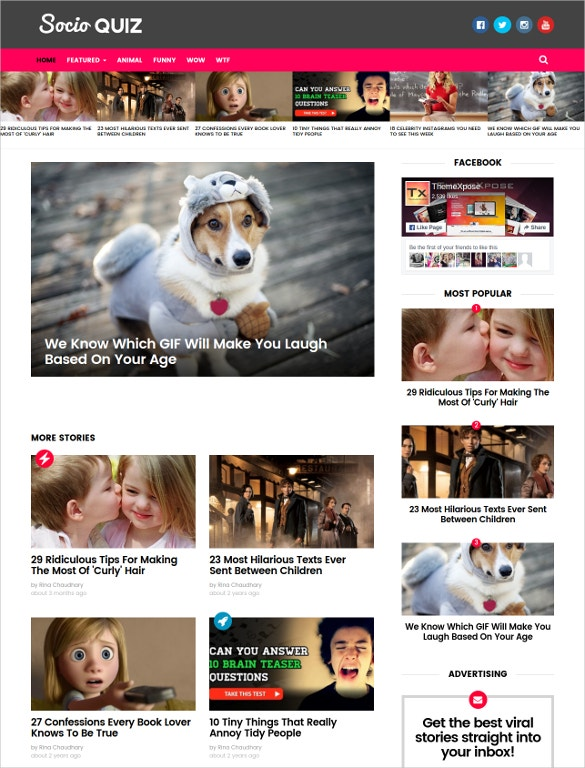 viral buzz responsive life style blogger template