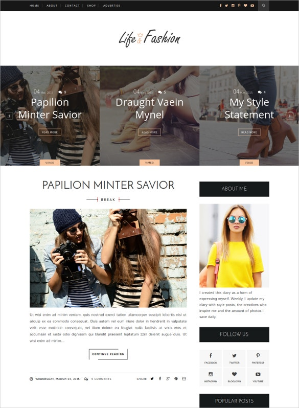 life fashion clean responsive blogger template