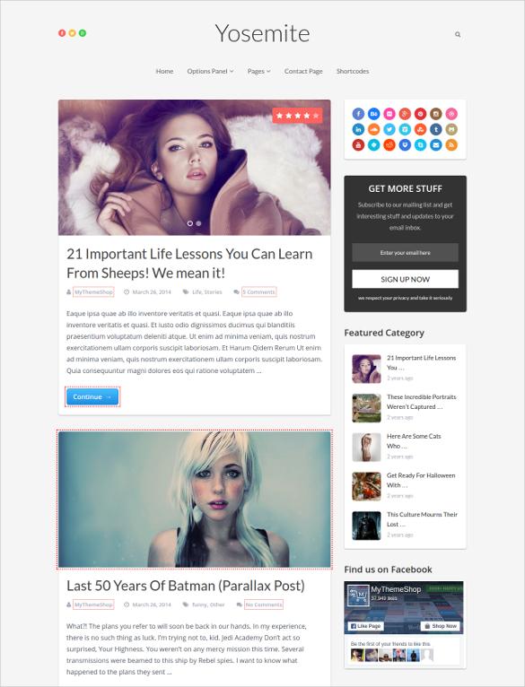 Elegant Life Style Blog Template