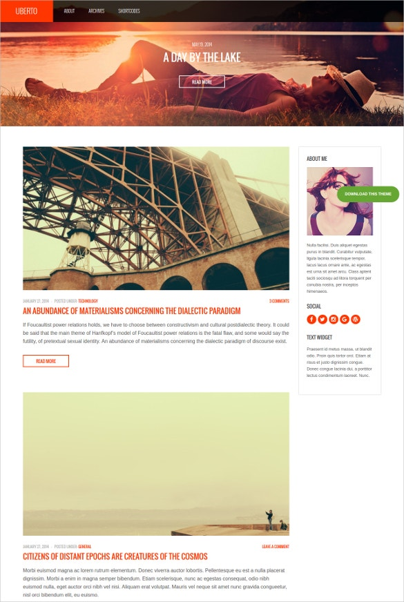 personal life style blog template