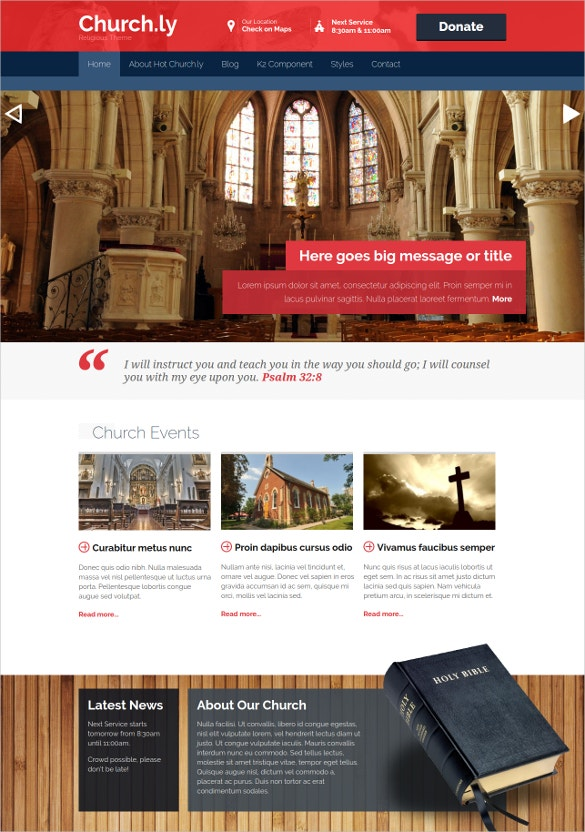 Hot Churchly Spiritual Joomla Template