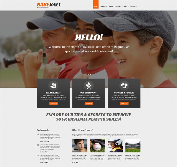 Responsive Baseball WordPress Theme