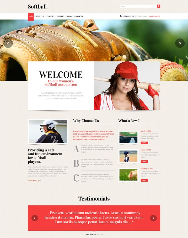 Responsive Baseball WordPress Template