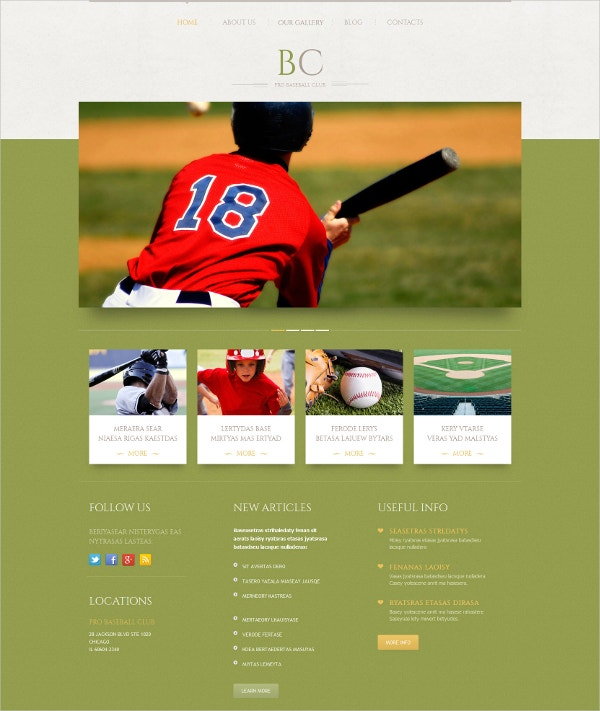 Baseball Amazing wordpress Theme