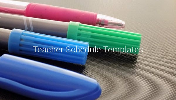 teacher schedule templates