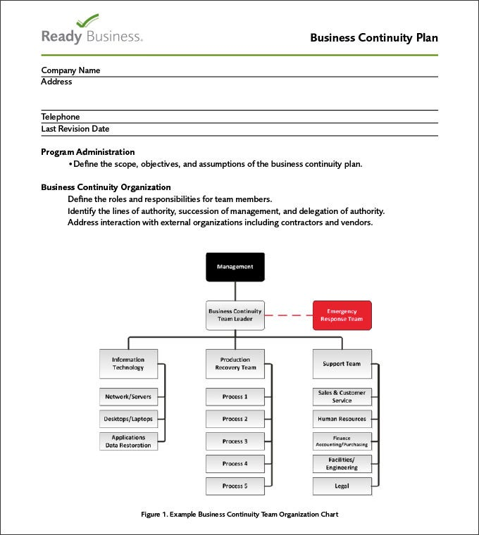 Business Continuity Plan Business Continuity Planning Template