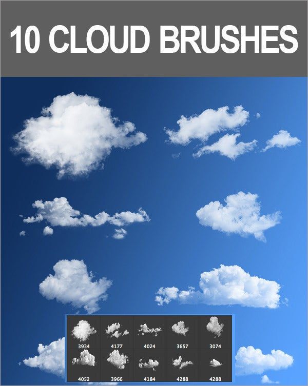 10 cloud brushes
