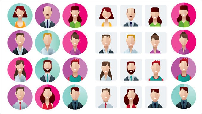 100437 profile icons office people