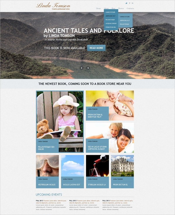 Responsive Author Joomla Template