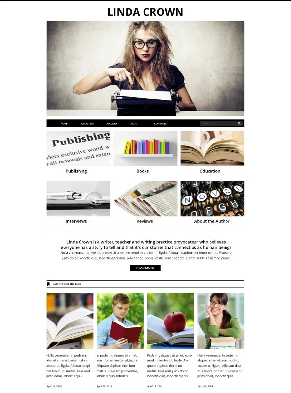 Author Writer's Page Joomla Template