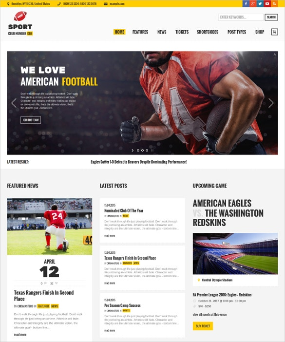 Football News & Magazine WordPress Theme