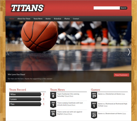Football Coach Center WordPress Theme