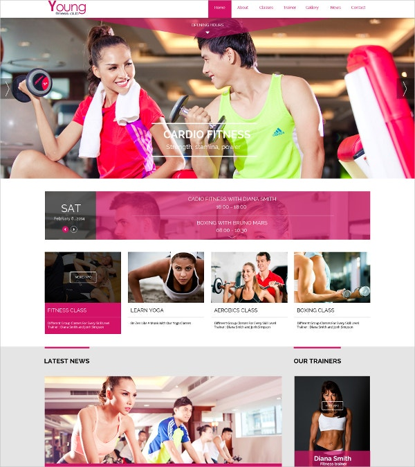 spa fitness joomla template1