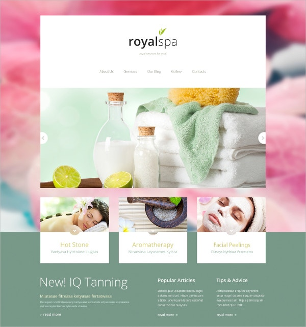 Tender Spa Salon Responsive Joomla Template
