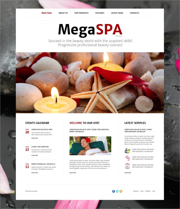 premium spa salon joomla template