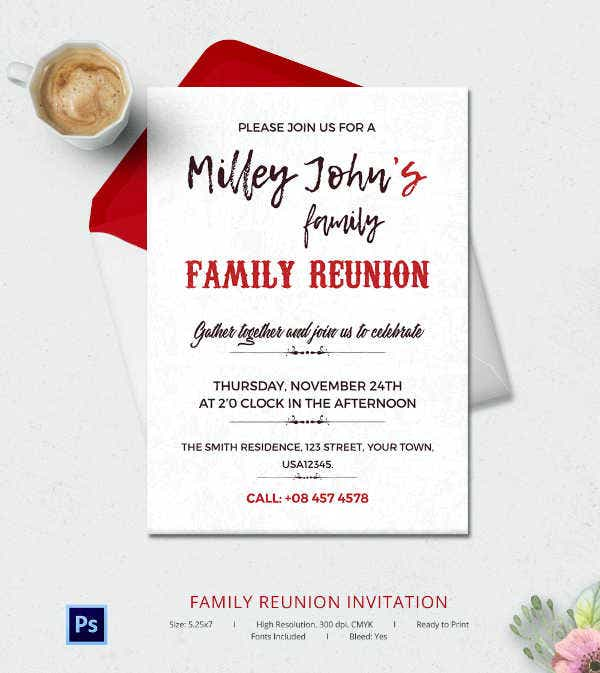 Family Reunion Invitation Template  Invitations For Family Reunion