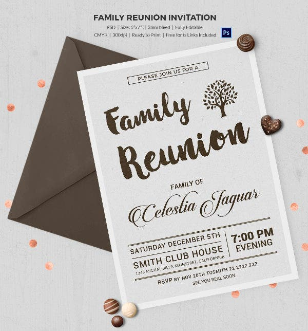 32+ Family Reunion Invitation Templates - Free PSD, Vector EPS ...