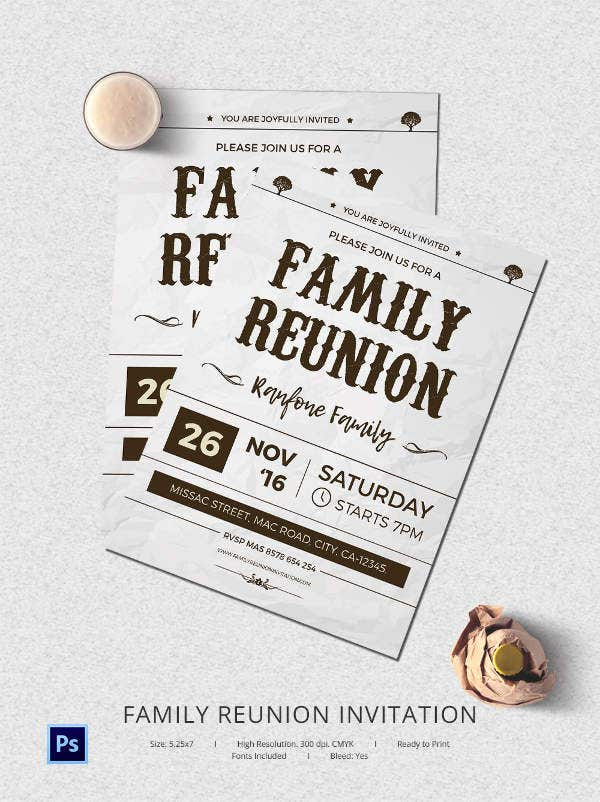 32  family reunion invitation templates
