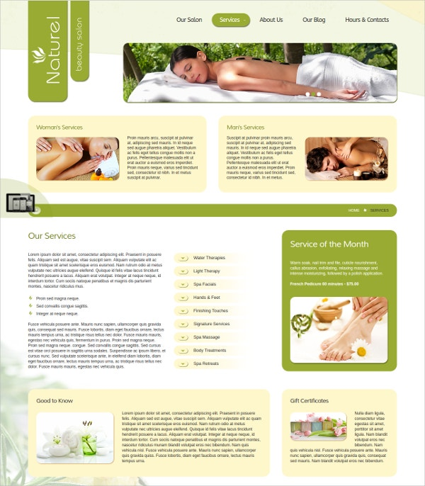 beauty salon spa joomla theme