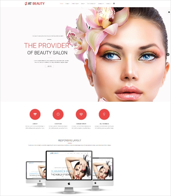spa beauty joomla template