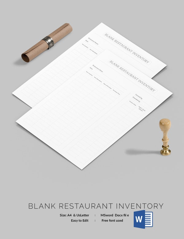 Restaurant Inventory Template