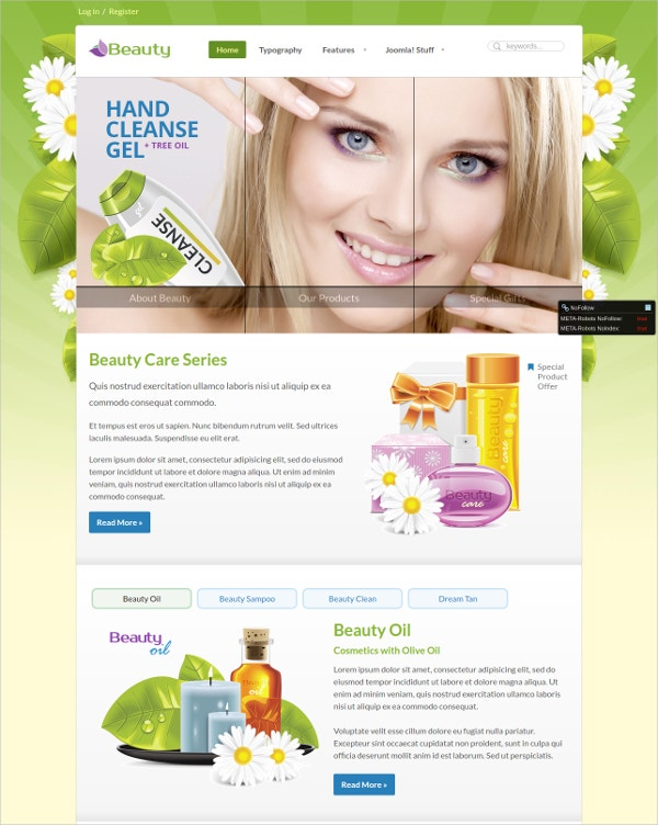 Premium Beauty Spa Joomla Template