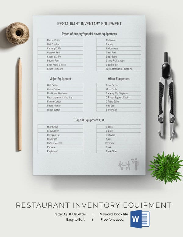 Restaurant Inventory Template - 28+ Free word, Excel Documents ...