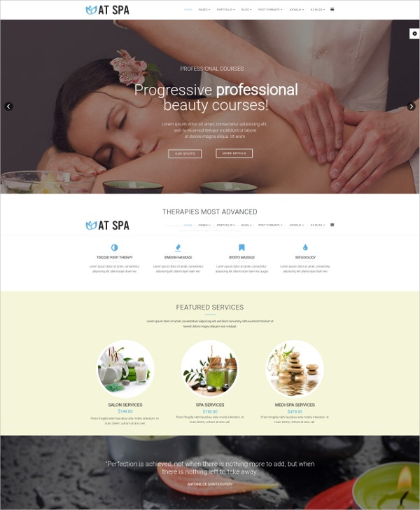 Responsive Multipurpose Spa Joomla Template