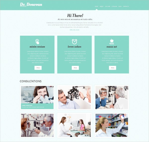 Responsive Optometrist's Form WordPress Theme