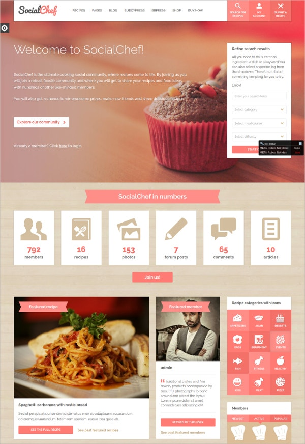 chef recipe responsive wordpress theme